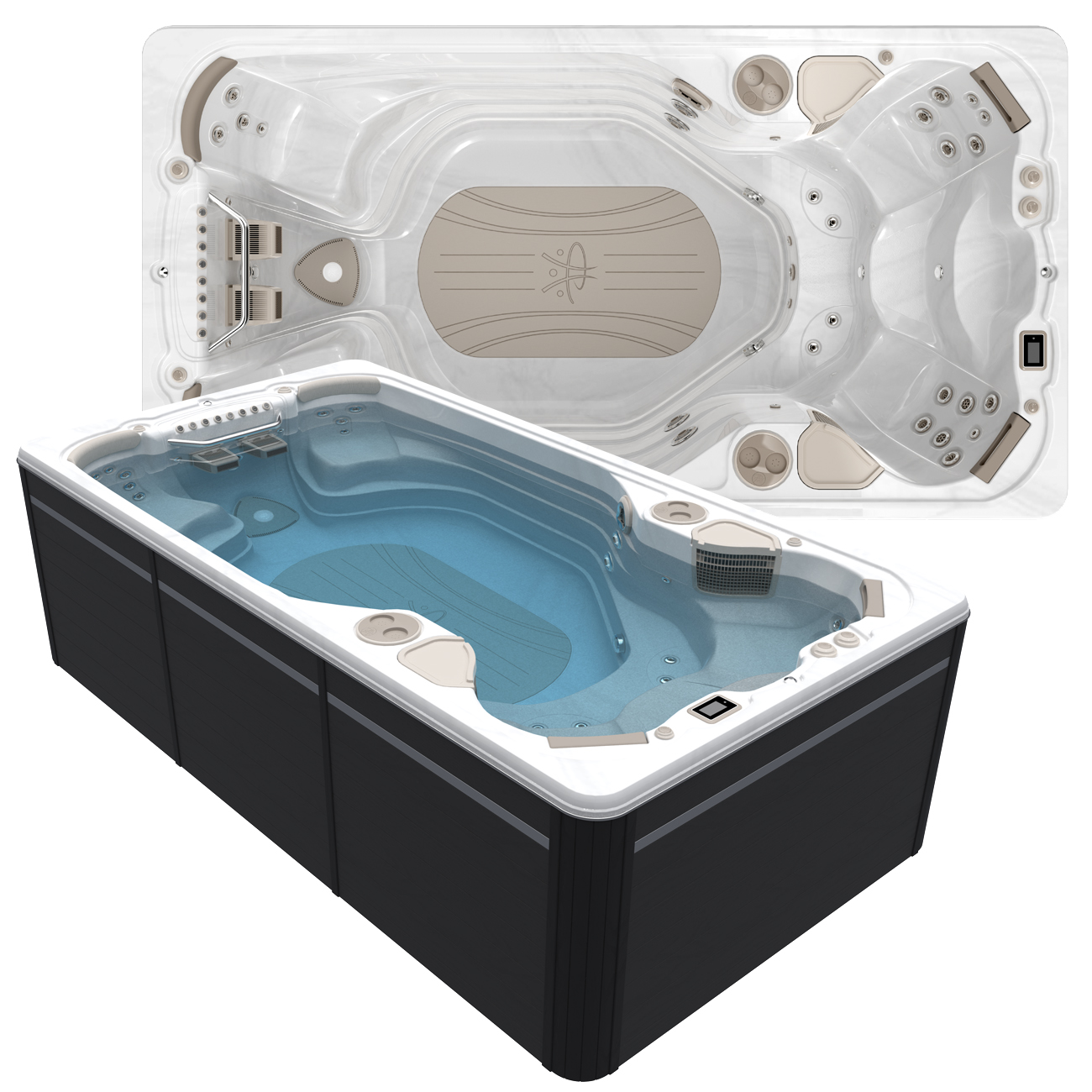 Hydropool AquaTrainer 14AX Swim Spa