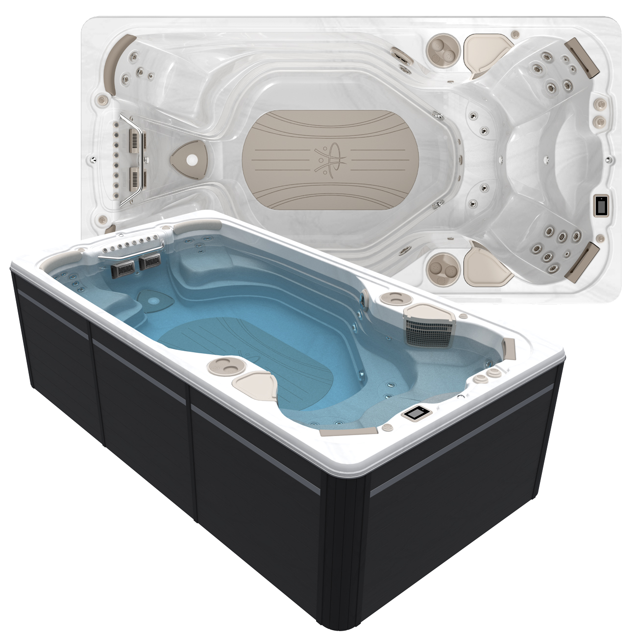 Hydropool AquaSport 14AX Swim Spa