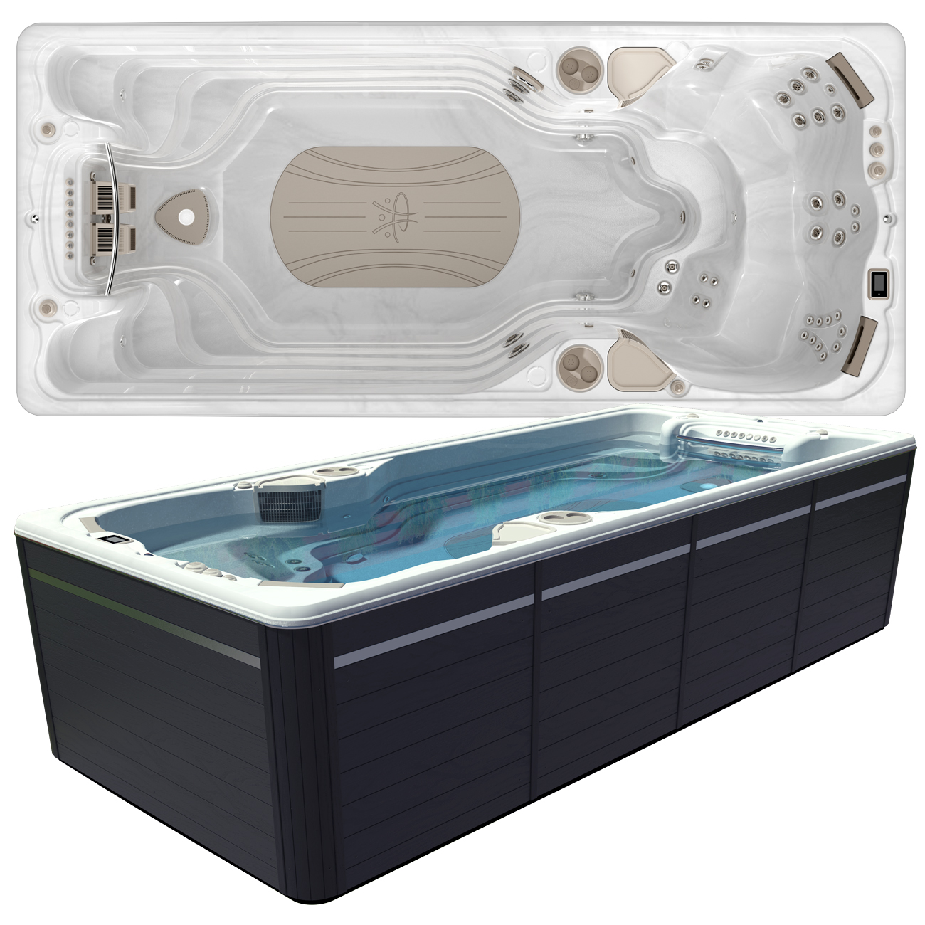 Hydropool AquaTrainer 17AX Swim Spa