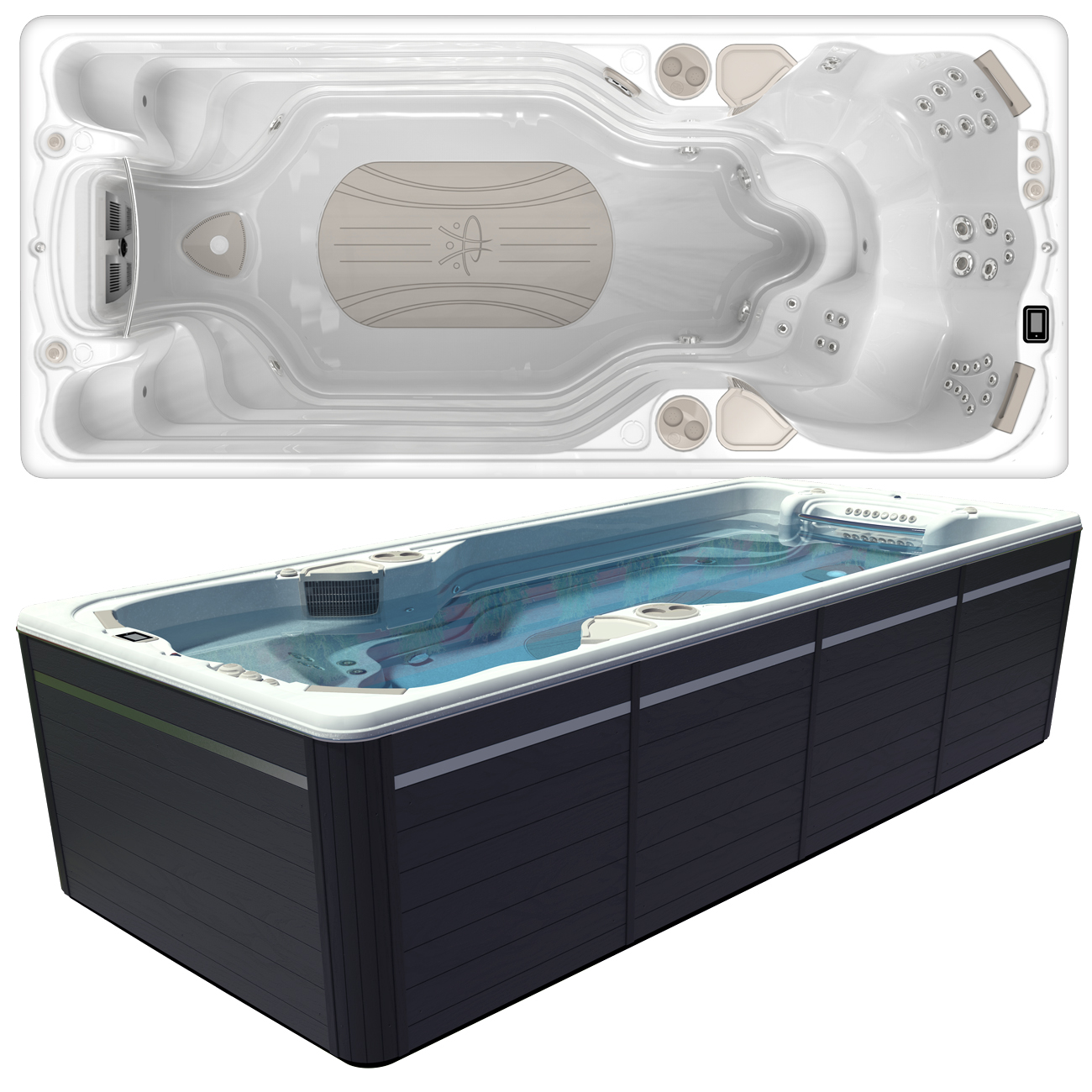 Hydropool AquaSport 17AX Swim Spa