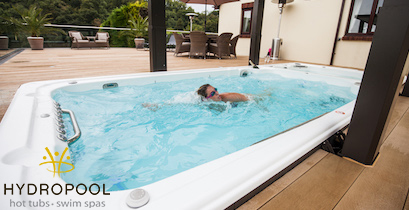Hydropool Self Cleaning Swim Spas, All Season Pools, Lap Pools, salt water systems made in Mississagua Ontario